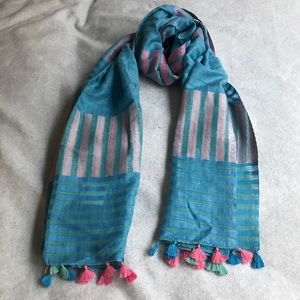Accessories - Handwoven hand-dyed linen cotton blend scarf/wrap!